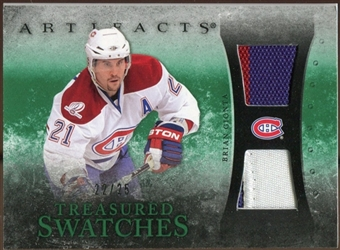 2010/11 Upper Deck Artifacts Treasured Swatches Jersey Patch Emerald #TSBG Brian Gionta 22/25