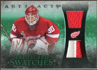 2010/11 Upper Deck Artifacts Treasured Swatches Jersey Patch Emerald #TSCO Chris Osgood 21/25