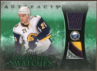 2010/11 Upper Deck Artifacts Treasured Swatches Jersey Patch Emerald #TSDS Drew Stafford 6/25
