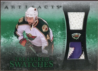 2010/11 Upper Deck Artifacts Treasured Swatches Jersey Patch Emerald #TSGL Guillaume Latendresse 7/25