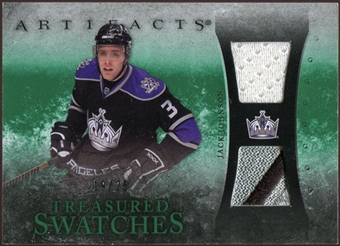 2010/11 Upper Deck Artifacts Treasured Swatches Jersey Patch Emerald #TSJJ Jack Johnson 19/25