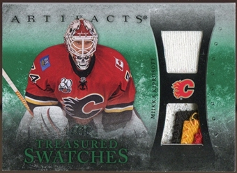 2010/11 Upper Deck Artifacts Treasured Swatches Jersey Patch Emerald #TSMK Miikka Kiprusoff 13/25