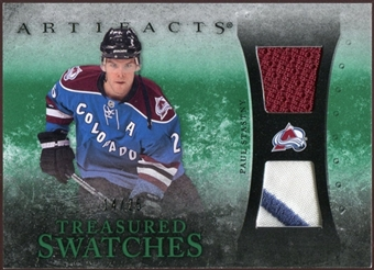 2010/11 Upper Deck Artifacts Treasured Swatches Jersey Patch Emerald #TSPS Paul Stastny 14/25