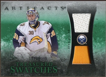 2010/11 Upper Deck Artifacts Treasured Swatches Jersey Patch Emerald #TSRM Ryan Miller 16/25