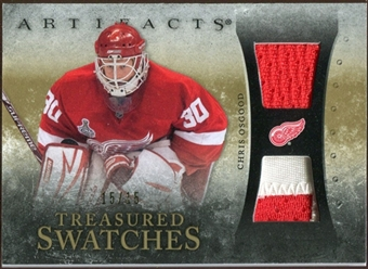 2010/11 Upper Deck Artifacts Treasured Swatches Jersey Patch Gold #TSCO Chris Osgood 15/15