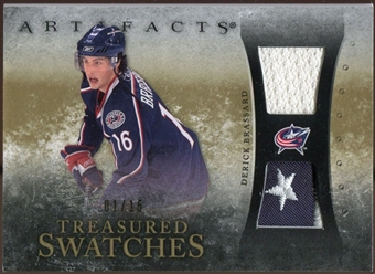2010/11 Upper Deck Artifacts Treasured Swatches Jersey Patch Gold #TSDB Derick Brassard 1/15