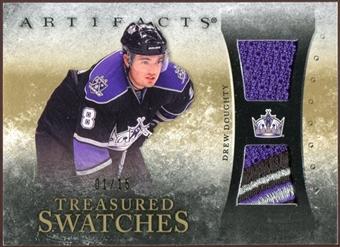 2010/11 Upper Deck Artifacts Treasured Swatches Jersey Patch Gold #TSDD Drew Doughty /15