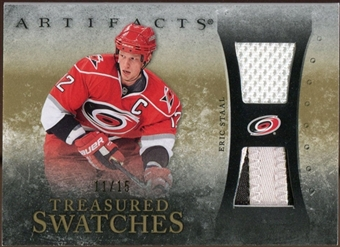 2010/11 Upper Deck Artifacts Treasured Swatches Jersey Patch Gold #TSES Eric Staal 11/15