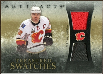 2010/11 Upper Deck Artifacts Treasured Swatches Jersey Patch Gold #TSJI Jarome Iginla 6/15