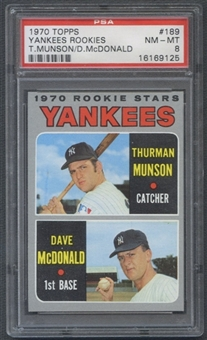 1970 Topps Baseball #189 Thurman Munson Rookie PSA 8 (NM-MT) *9125