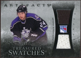2010/11 Upper Deck Artifacts Treasured Swatches Silver #TSAF Alexander Frolov /50