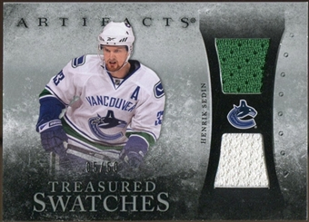2010/11 Upper Deck Artifacts Treasured Swatches Silver #TSHS Henrik Sedin 5/50