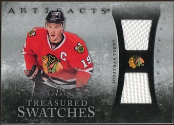 2010/11 Upper Deck Artifacts Treasured Swatches Silver #TSJT Jonathan Toews /50