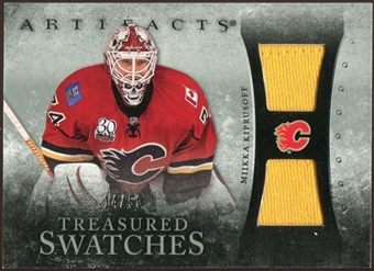 2010/11 Upper Deck Artifacts Treasured Swatches Silver #TSMK Miikka Kiprusoff /50