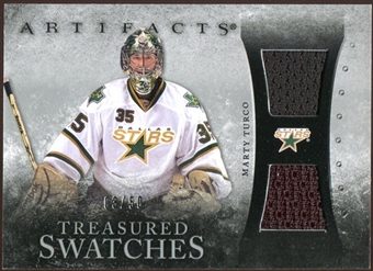 2010/11 Upper Deck Artifacts Treasured Swatches Silver #TSMT Marty Turco 3/50
