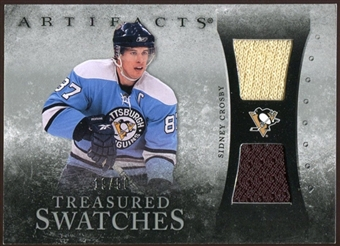 2010/11 Upper Deck Artifacts Treasured Swatches Silver #TSSC Sidney Crosby 19/50