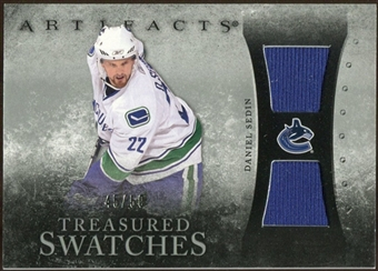 2010/11 Upper Deck Artifacts Treasured Swatches Silver #TSSE Daniel Sedin 45/50
