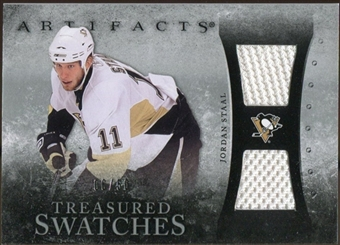 2010/11 Upper Deck Artifacts Treasured Swatches Silver #TSST Jordan Staal /50