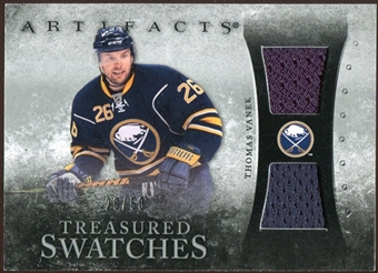 2010/11 Upper Deck Artifacts Treasured Swatches Silver #TSTV Thomas Vanek /50