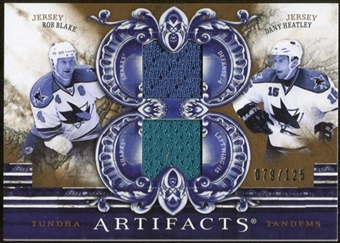 2010/11 Upper Deck Artifacts Tundra Tandems Bronze #TT2SJS Dany Heatley/Rob Blake /125