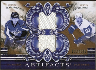 2010/11 Upper Deck Artifacts Tundra Tandems Bronze #TT2SWEDE Nicklas Backstrom/Johan Franzen 32/125