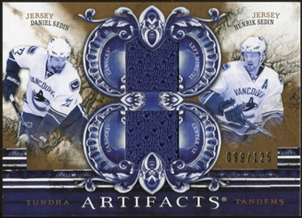 2010/11 Upper Deck Artifacts Tundra Tandems Bronze #TT2TWINS Daniel Sedin/Henrik Sedin /125
