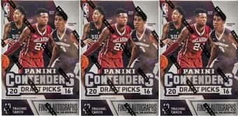 2016/17 Panini Contenders Draft Picks Basketball 7-Pack Box (Lot of 3)
