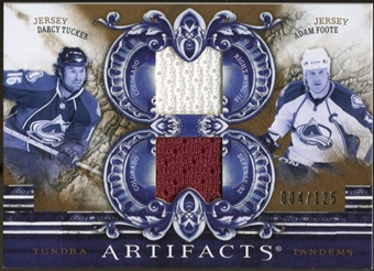 2010/11 Upper Deck Artifacts Tundra Tandems Bronze #TT2COLO Darcy Tucker/Adam Foote /125