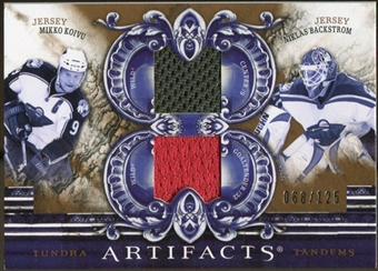 2010/11 Upper Deck Artifacts Tundra Tandems Bronze #TT2WILD Niklas Backstrom/Mikko Koivu 68/125