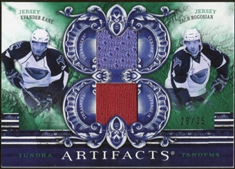 2010/11 Upper Deck Artifacts Tundra Tandems Emerald #TT2ATL Zach Bogosian/Evander Kane 28/35