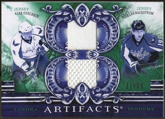 2010/11 Upper Deck Artifacts Tundra Tandems Emerald #TT2CAPS Nicklas Backstrom/Alex Ovechkin 21/35