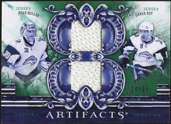 2010/11 Upper Deck Artifacts Tundra Tandems Emerald #TT2RMDR Ryan Miller/Derek Roy 24/35