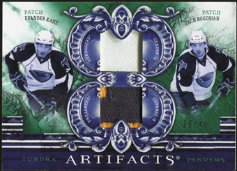 2010/11 Upper Deck Artifacts Tundra Tandems Patches Emerald #TT2ATL Zach Bogosian/Evander Kane 25/40
