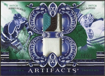 2010/11 Upper Deck Artifacts Tundra Tandems Patches Emerald #TT2EDM Bill Ranford/Bernie Nicholls /40