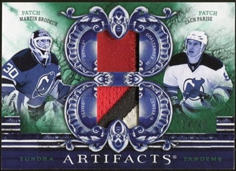 2010/11 Upper Deck Artifacts Tundra Tandems Patches Emerald #TT2NJD Zach Parise/Martin Brodeur 24/40