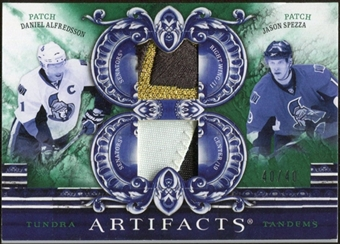 2010/11 Upper Deck Artifacts Tundra Tandems Patches Emerald #TT2OTT Daniel Alfredsson/Jason Spezza 40/40