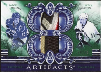 2010/11 Upper Deck Artifacts Tundra Tandems Patches Emerald #TT2STAAL Jordan Staal/Eric Staal 39/40