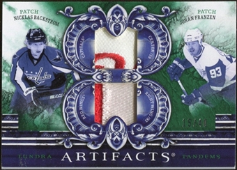 2010/11 Upper Deck Artifacts Tundra Tandems Patches Emerald #TT2SWEDE Nicklas Backstrom/Johan Franzen 15/40