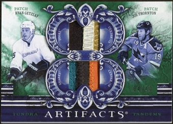 2010/11 Upper Deck Artifacts Tundra Tandems Patches Emerald #TT2CALI Joe Thornton/Ryan Getzlaf 4/40
