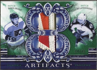 2010/11 Upper Deck Artifacts Tundra Tandems Patches Emerald #TT2DRUM Daniel Briere/Guillaume Latendresse 4/40