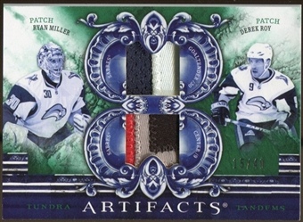 2010/11 Upper Deck Artifacts Tundra Tandems Patches Emerald #TT2RMDR Ryan Miller/Derek Roy 15/40