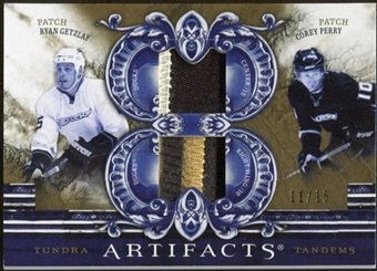 2010/11 Upper Deck Artifacts Tundra Tandems Patches Gold #TT2ANA Ryan Getzlaf/Corey Perry 11/15