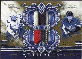 2010/11 Upper Deck Artifacts Tundra Tandems Patches Gold #TT2CAPS Nicklas Backstrom/Alex Ovechkin 13/15