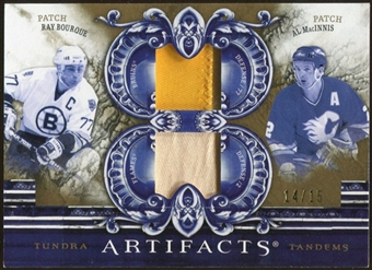 2010/11 Upper Deck Artifacts Tundra Tandems Patches Gold #TT2DMEN Al MacInnis/Ray Bourque 14/15
