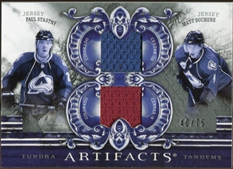 2010/11 Upper Deck Artifacts Tundra Tandems Silver #TT2AVS Paul Stastny/Matt Duchene 46/75