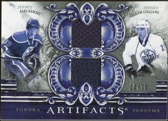 2010/11 Upper Deck Artifacts Tundra Tandems Silver #TT2OIL Ales Hemsky/Andrew Cogliano 13/75