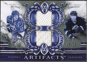 2010/11 Upper Deck Artifacts Tundra Tandems Silver #TT2CANES Tuomo Ruutu/Eric Staal 25/75