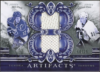 2010/11 Upper Deck Artifacts Tundra Tandems Silver #TT2STAAL Jordan Staal/Eric Staal /75