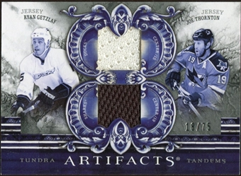 2010/11 Upper Deck Artifacts Tundra Tandems Silver #TT2CALI Joe Thornton/Ryan Getzlaf 18/75