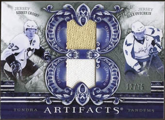 2010/11 Upper Deck Artifacts Tundra Tandems Silver #TT2SCAO Sidney Crosby/Alexander Ovechkin /75